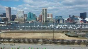 Baltimore skyline from Federal Hill Park.