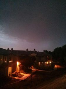 Image number 2. It grew dark as night and hail began to fall.