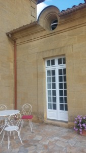 The entrance to our beautiful room at Chateau St. Jacques Calon.