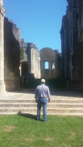 Entering the ruins of the abbey.