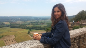 My other daughter on the walls of Domme, overlooking the Dordogne Valley.